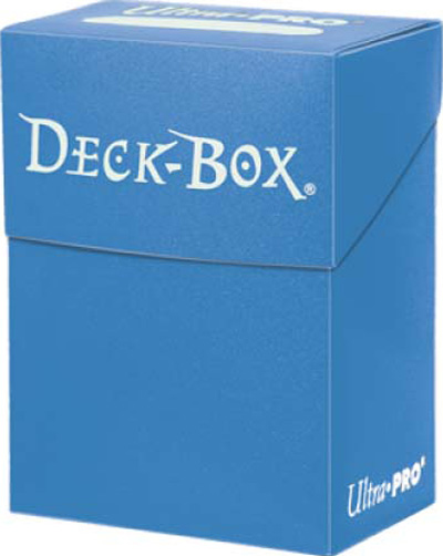 Ultra Pro Solid Color Deck Box - Light Blue