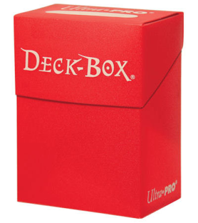 Ultra Pro Solid Color Deck Box - Red